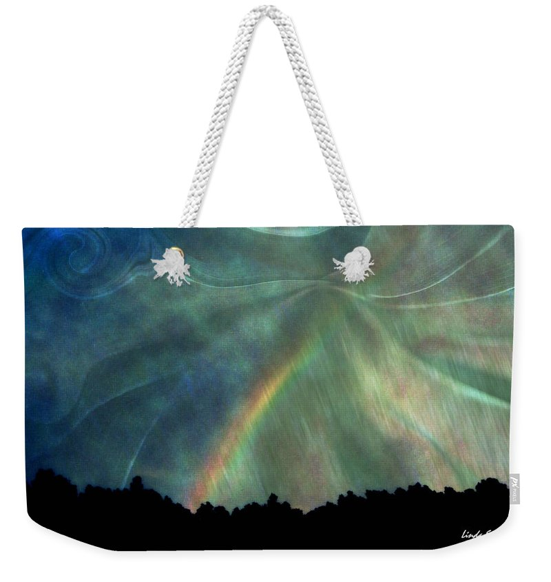 Nature Weekender Tote Bag featuring the photograph Rainbow Showers by Linda Sannuti