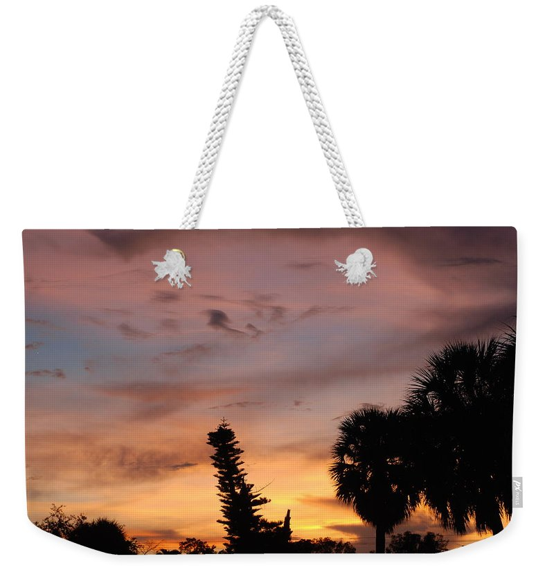 Sunset Weekender Tote Bag featuring the photograph Rainbow Sunset by Rob Hans