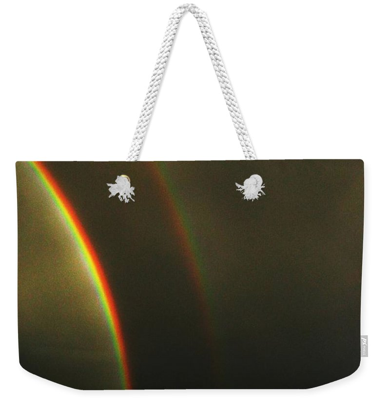 Seattle Weekender Tote Bag featuring the photograph Rainbow by Tim Allen