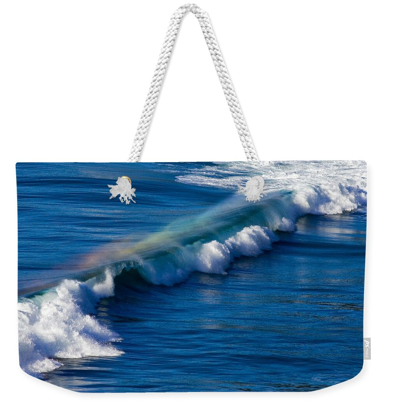 Rainbow Weekender Tote Bag featuring the photograph Rainbow Wave by Randall Ingalls