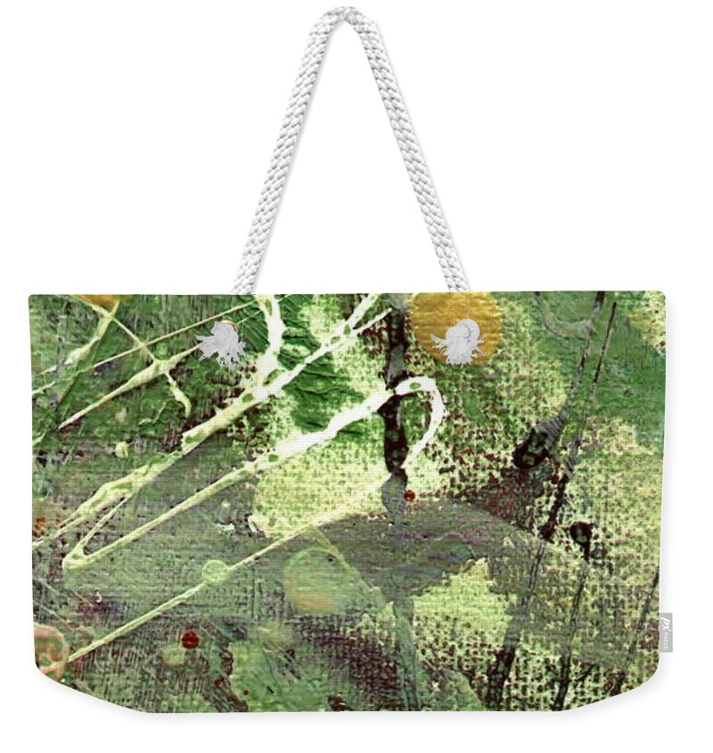 Greenery Weekender Tote Bag featuring the mixed media Rainforest by Angela L Walker