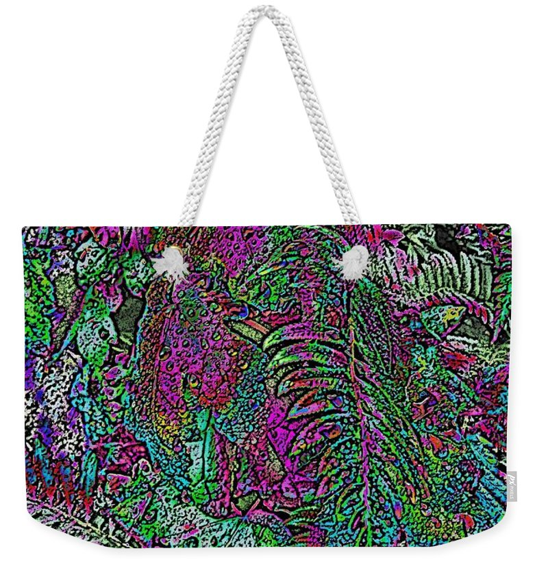 Weather Weekender Tote Bag featuring the digital art Rainy Day Delight 1 by Tim Allen