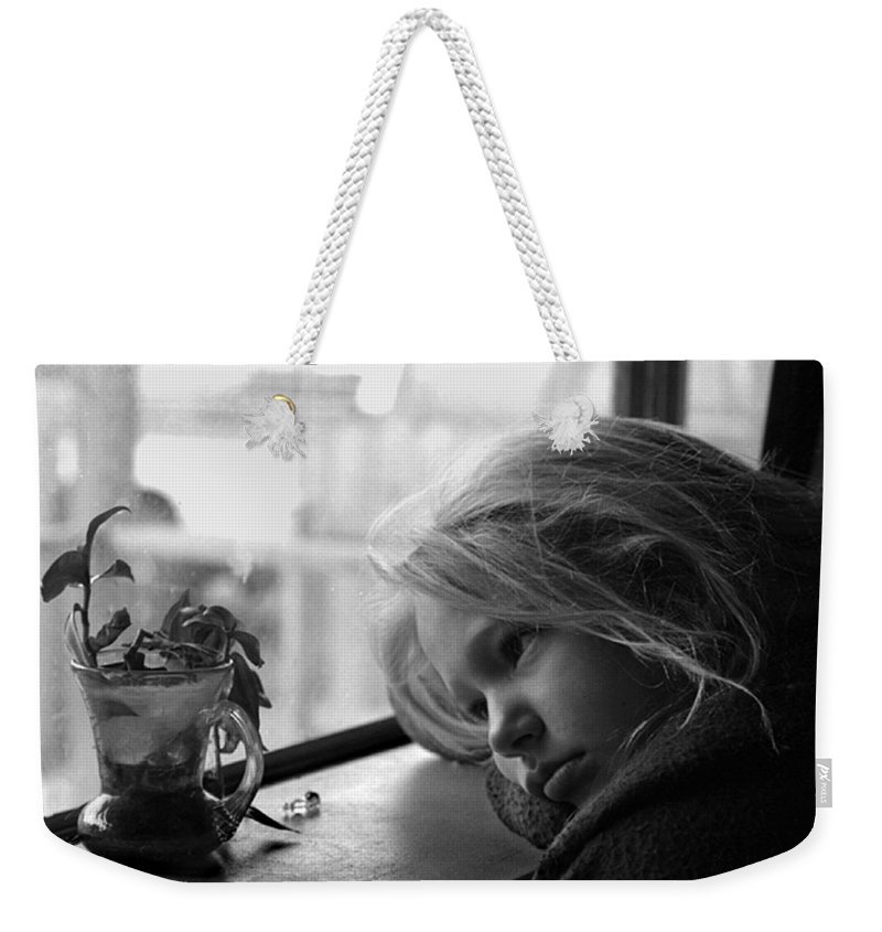 Sad Face Weekender Tote Bag featuring the photograph Rainy Day by Peter Piatt