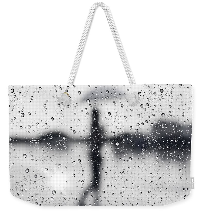 Abstract Weekender Tote Bag featuring the photograph Rainy Day by Setsiri Silapasuwanchai