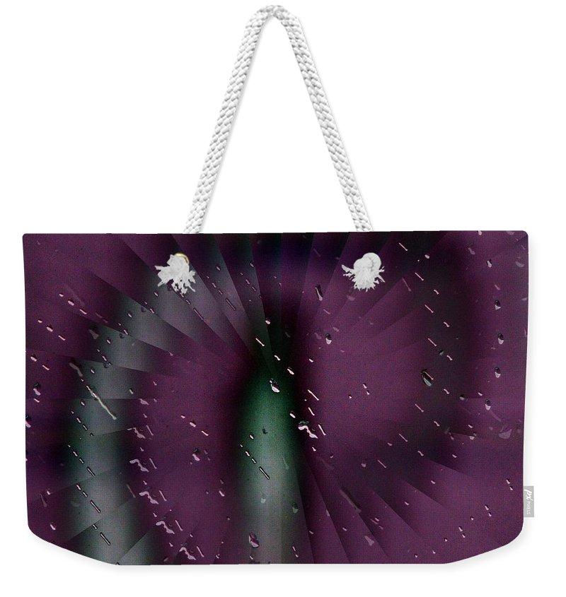 Rain Weekender Tote Bag featuring the digital art Rainy Window by Tim Allen
