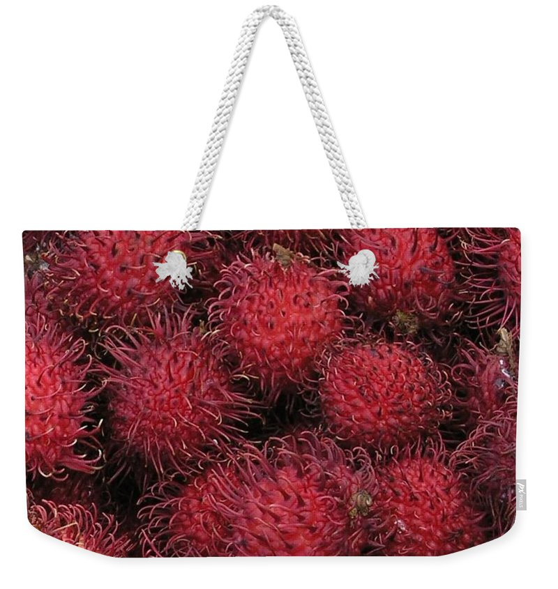 Rambutan Weekender Tote Bag featuring the photograph Rambutan by Mary Deal