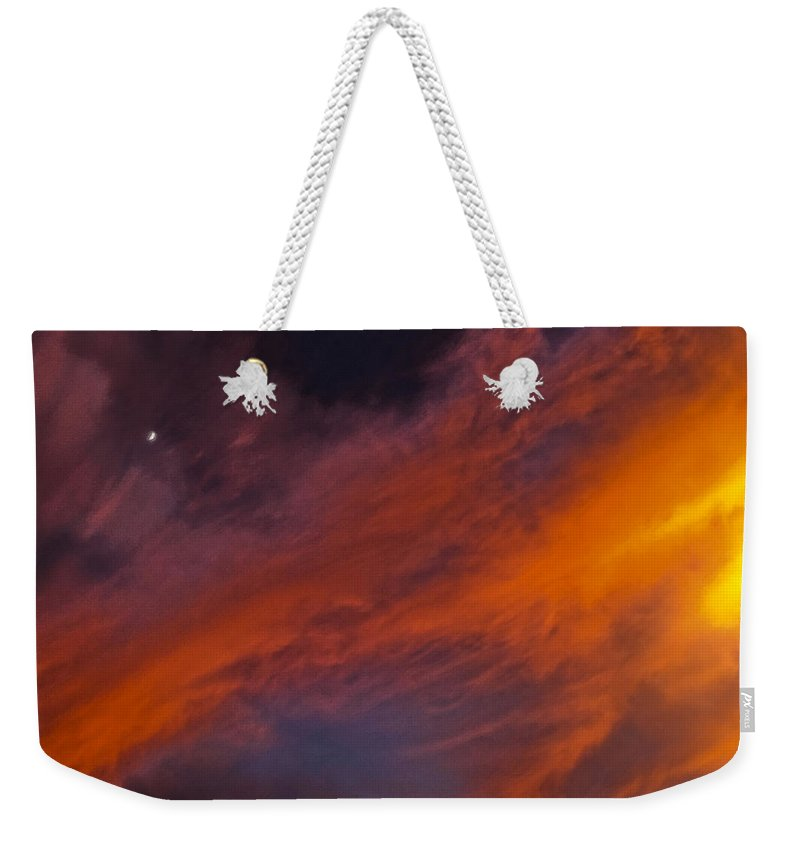 Sky Weekender Tote Bag featuring the photograph Rampart by Mykel Davis