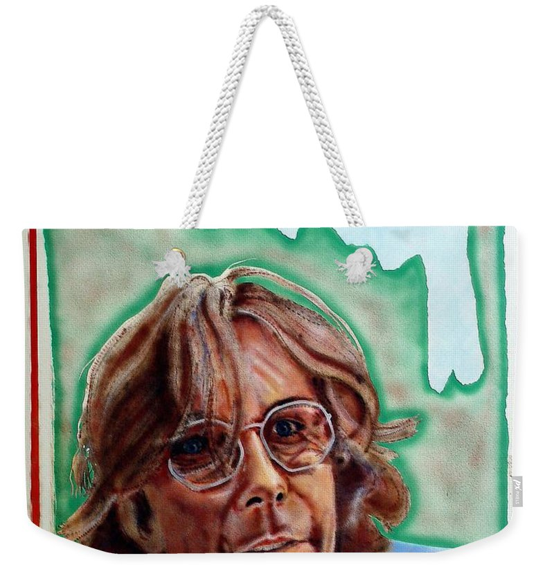 Portrait Weekender Tote Bag featuring the painting Ramsey by Ron Bissett