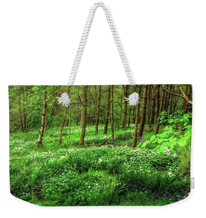 Nature Weekender Tote Bag featuring the photograph Ramsons And Bluebells, Bentley Woods by John Edwards