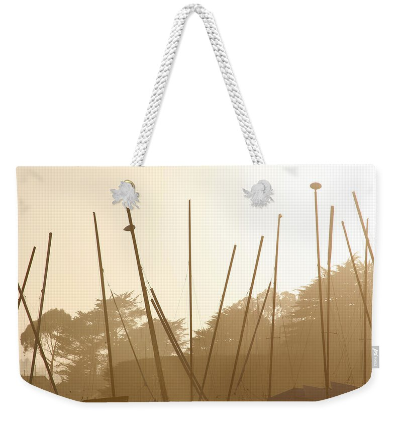 Boat Weekender Tote Bag featuring the photograph Random Masts by Marilyn Hunt
