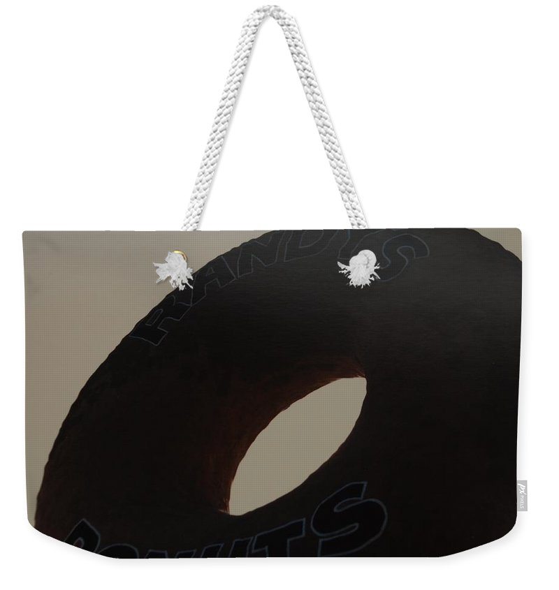 Randys Donuts Weekender Tote Bag featuring the photograph Randys Donuts by Rob Hans