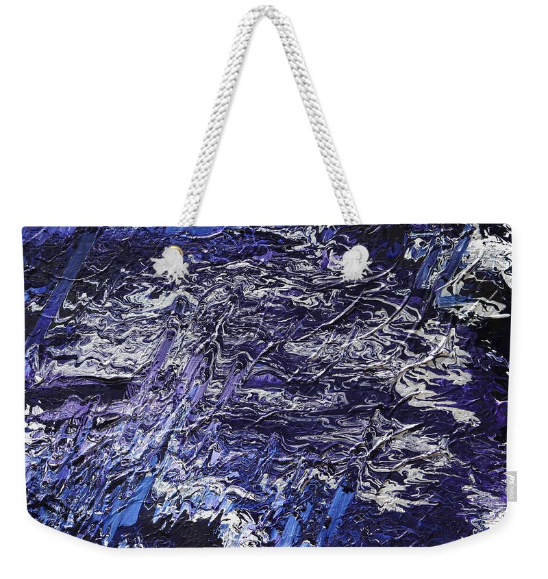 Fusionart Weekender Tote Bag featuring the painting Rapid by Ralph White
