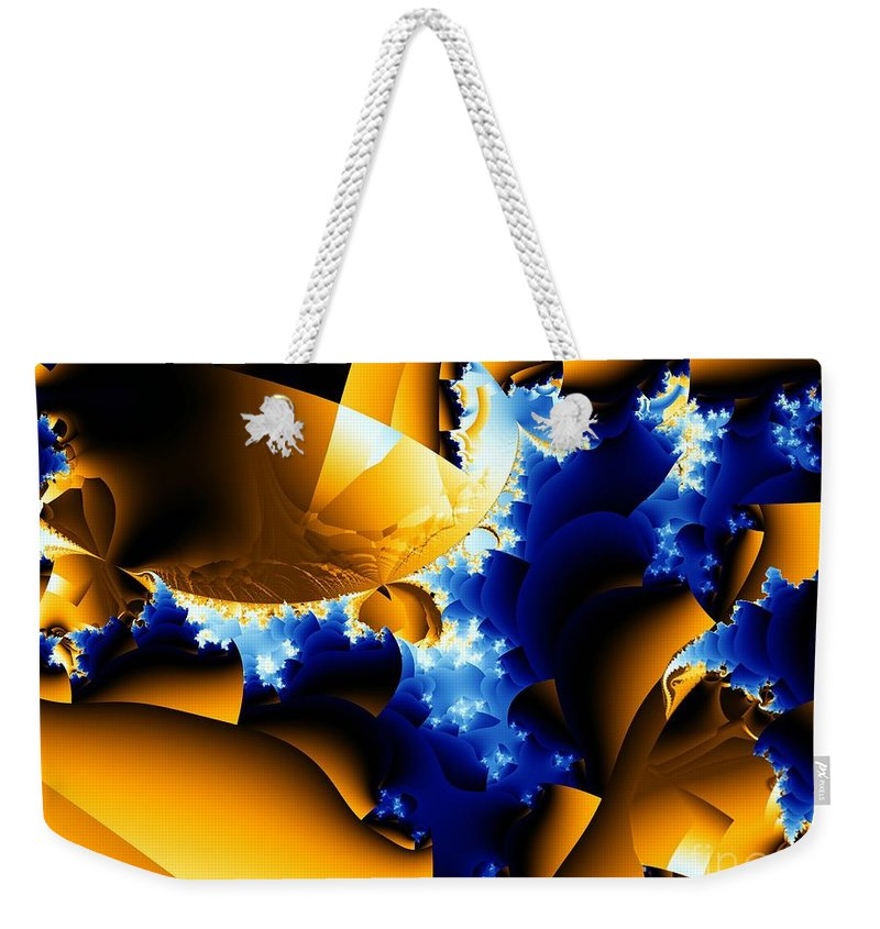 Rapids Weekender Tote Bag featuring the digital art Rapids by Ron Bissett