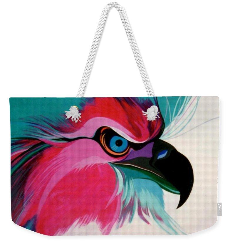 Birds Weekender Tote Bag featuring the painting Raptor Rapture by Marlene Burns