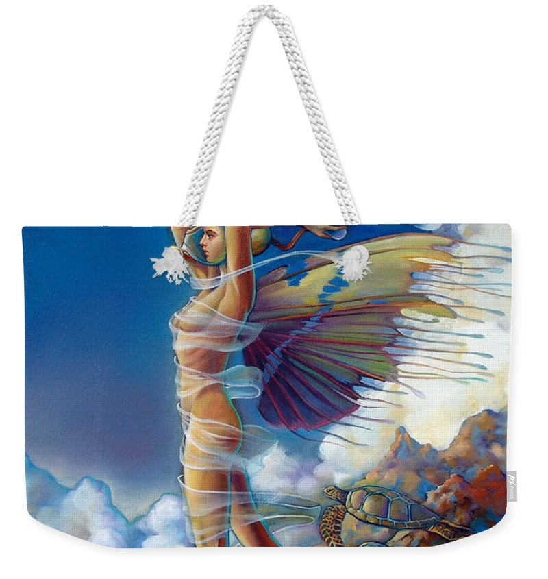 Mermaid Weekender Tote Bag featuring the painting Rapture and the Ecstasea by Patrick Anthony Pierson