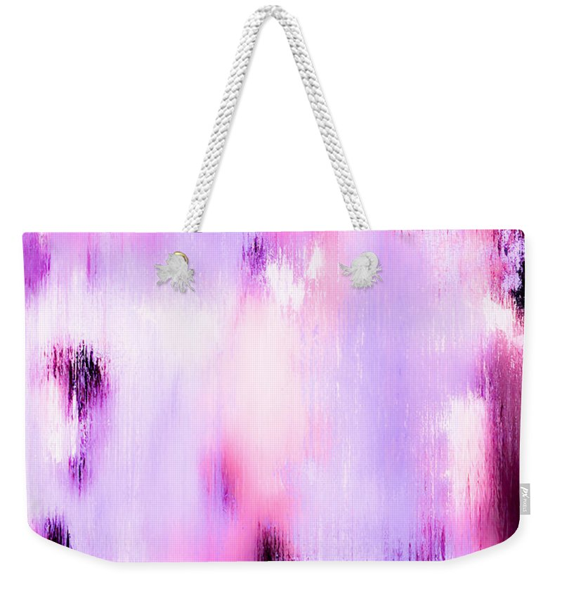 Abstract Weekender Tote Bag featuring the painting Raspberry Baret by Wayne Cantrell