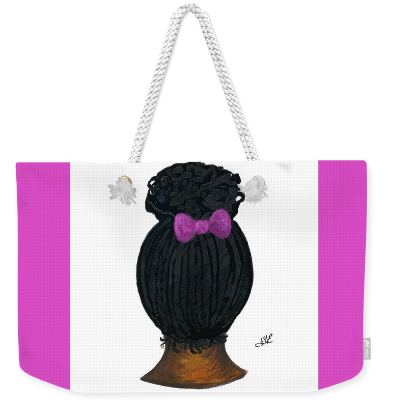 Naturally Me Kidz Weekender Tote Bag featuring the painting Raven by Sonja Griffin Evans