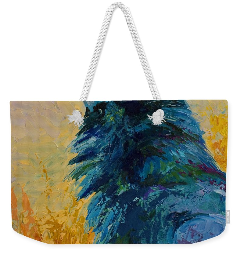 Crows Weekender Tote Bag featuring the painting Raven Study by Marion Rose
