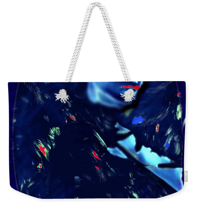 A Bizarre Evil Witch Flies With The Ravens Weekender Tote Bag featuring the digital art Raven Woman by Seth Weaver