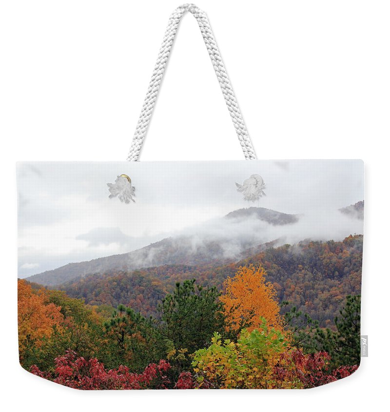 Landscape Weekender Tote Bag featuring the photograph Raven's Fork by Jennifer Robin