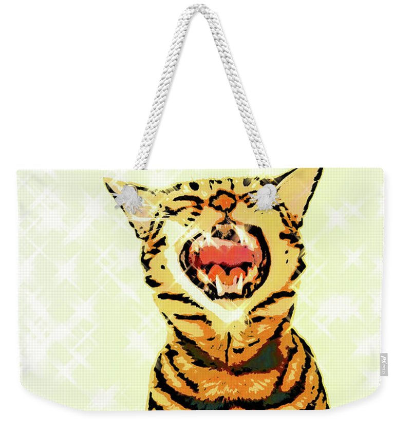 Cat Weekender Tote Bag featuring the photograph Ravi Series #5 by Vicki Podesta