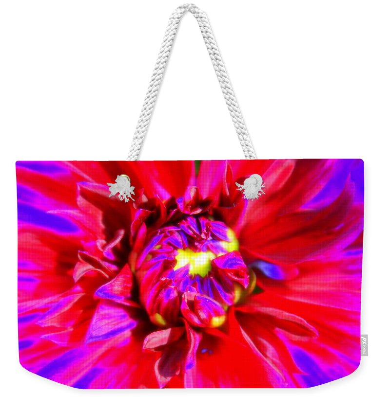 Abstract Weekender Tote Bag featuring the photograph Raving Beauty by Deborah Crew-Johnson