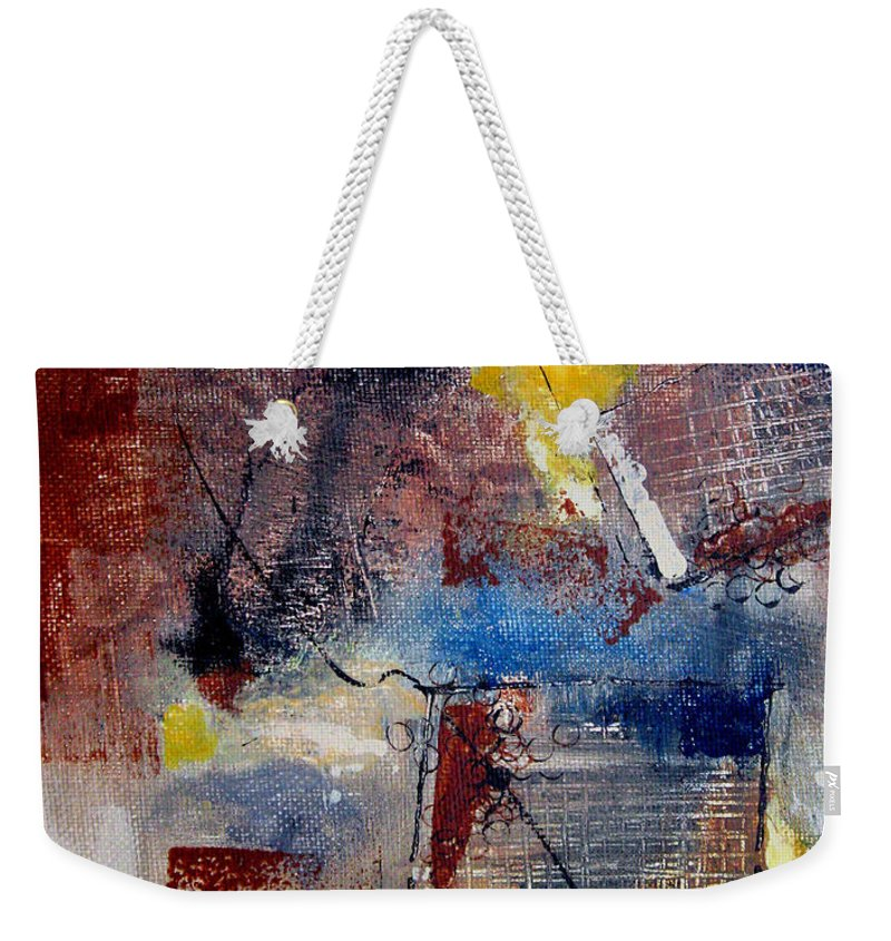 Abstract Weekender Tote Bag featuring the painting Raw Emotions II by Ruth Palmer