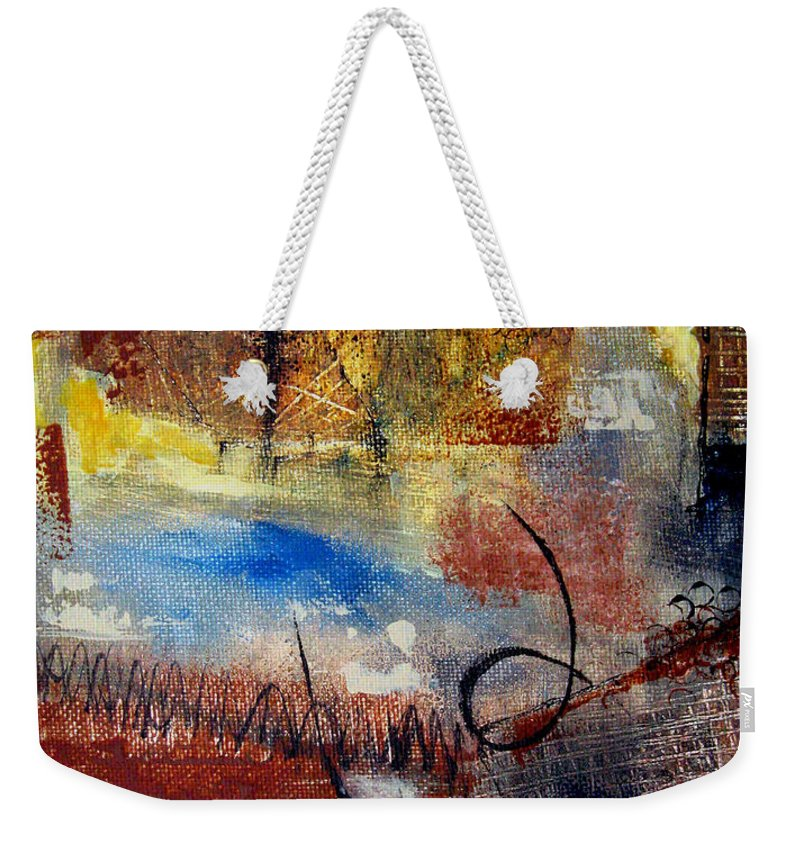 Abstract Weekender Tote Bag featuring the painting Raw Emotions by Ruth Palmer
