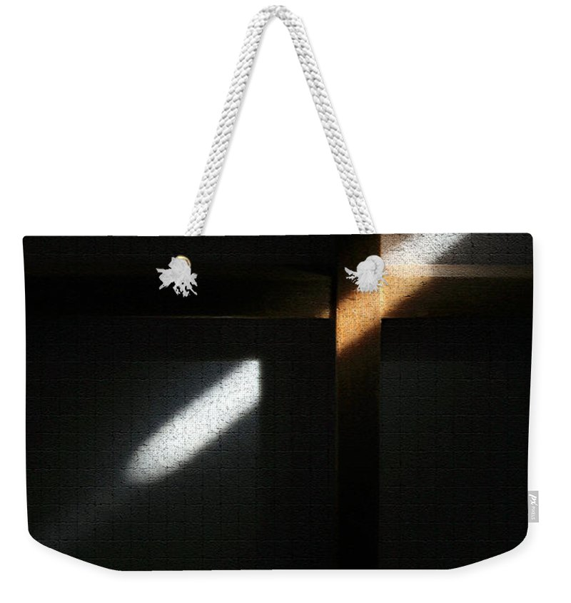 Abstract Weekender Tote Bag featuring the digital art Ray Of Light by Todd Blanchard