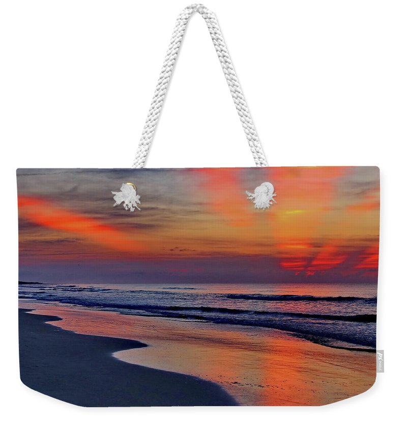Sunrise Weekender Tote Bag featuring the photograph Rays From Heaven by David Byron Keener