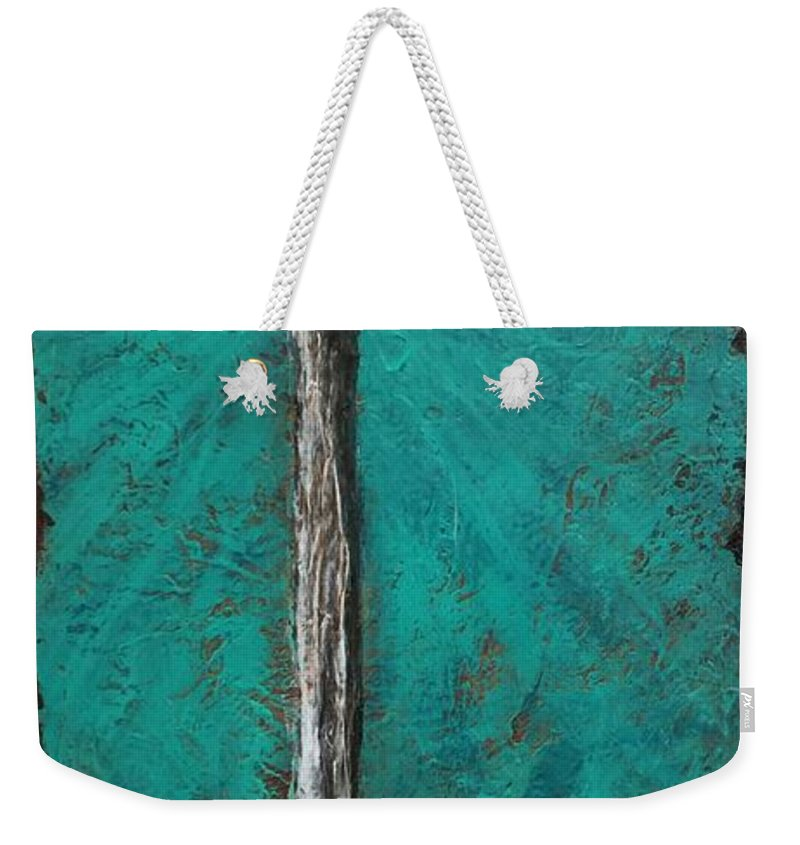 Textured Art Weekender Tote Bag featuring the painting Rays Of Hope by Brad Mason