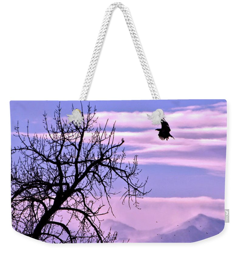 Motivational Weekender Tote Bag featuring the photograph Reach Higher by Scott Mahon
