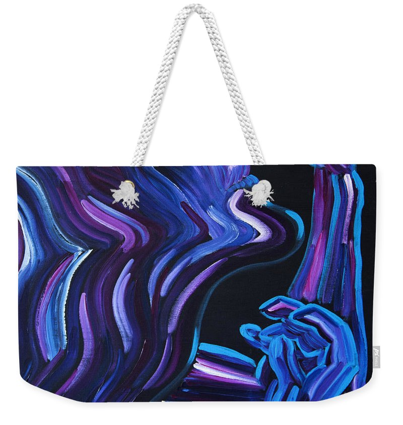 Figure Weekender Tote Bag featuring the painting Reach by JoAnn DePolo