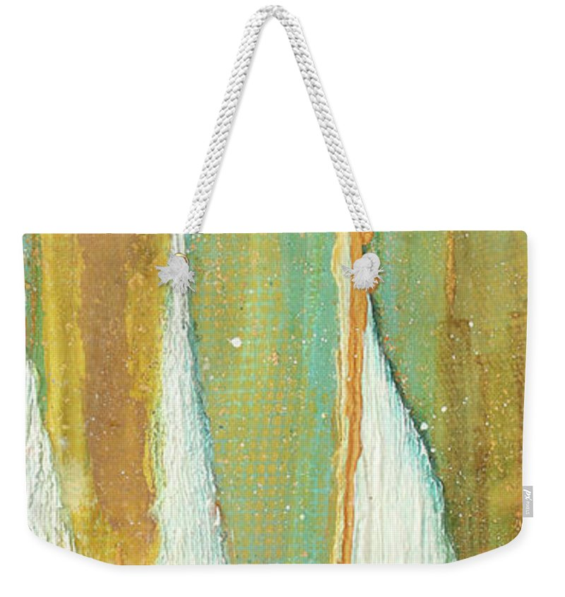 Canvas Art Weekender Tote Bag featuring the painting Reach by Kedra Barrett