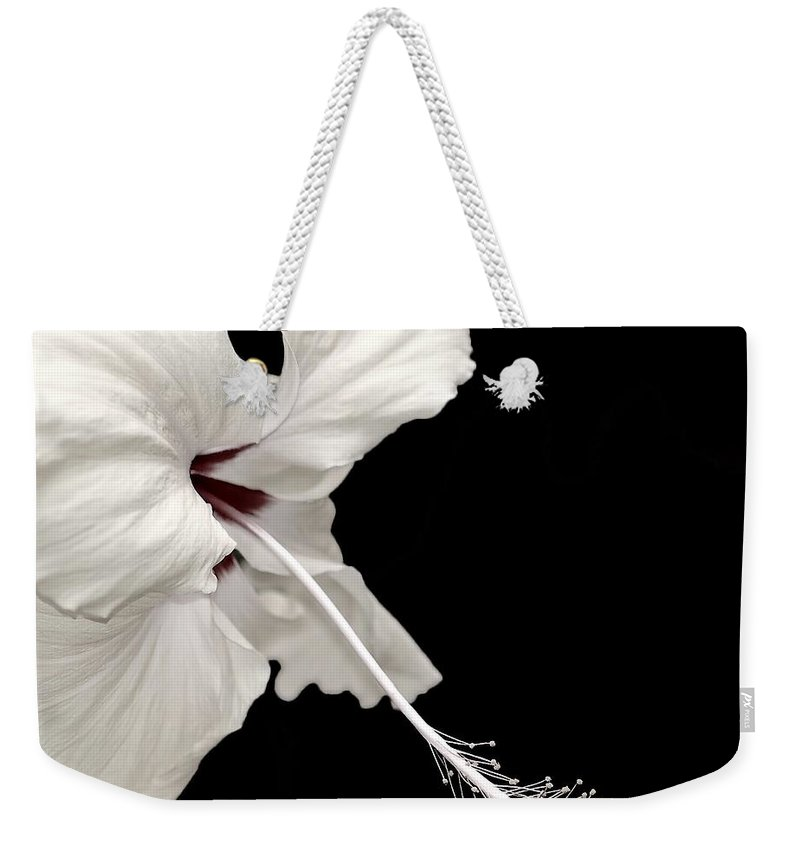 Flower Weekender Tote Bag featuring the photograph Reach Out by Jacky Gerritsen