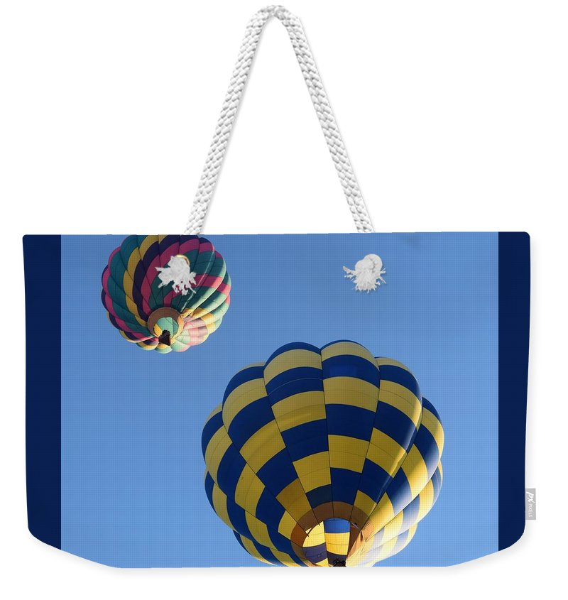Hot Air Balloons Weekender Tote Bag featuring the photograph Fresh Air by John Glass