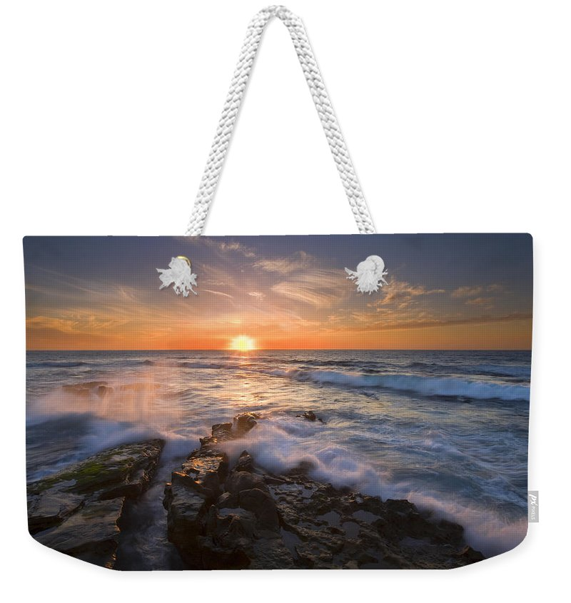Sunset Weekender Tote Bag featuring the photograph Reaching For The Sun by Mike Dawson