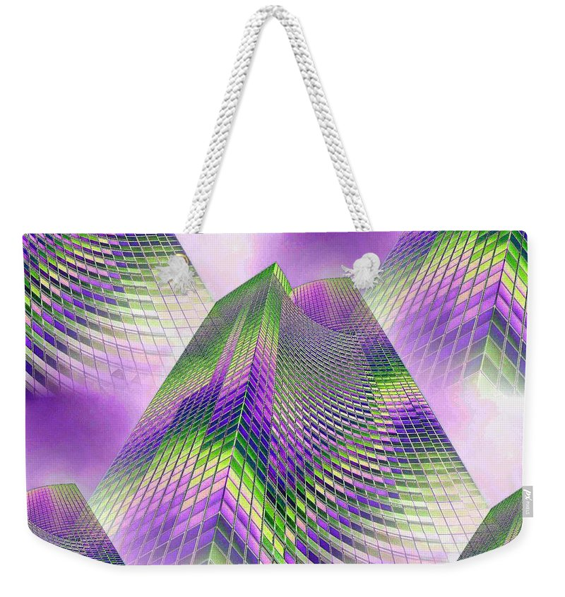 Seattle Weekender Tote Bag featuring the photograph Reaching Skyward by Tim Allen