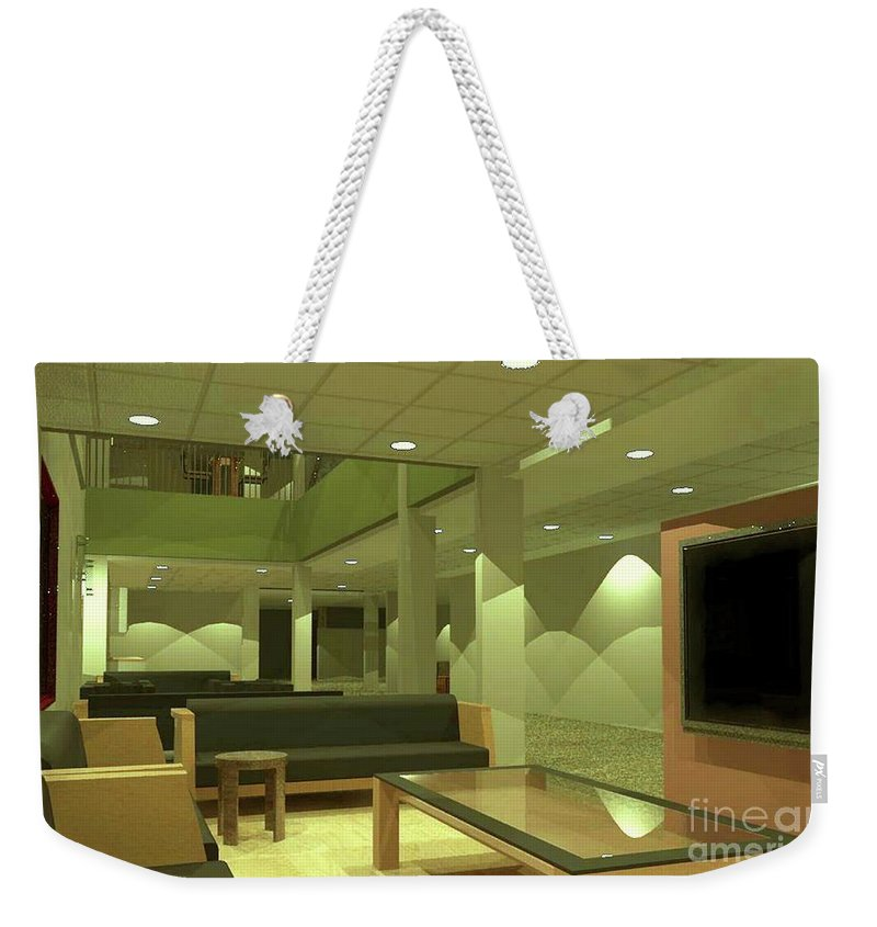 Rendering Weekender Tote Bag featuring the digital art Reading Area by Ron Bissett