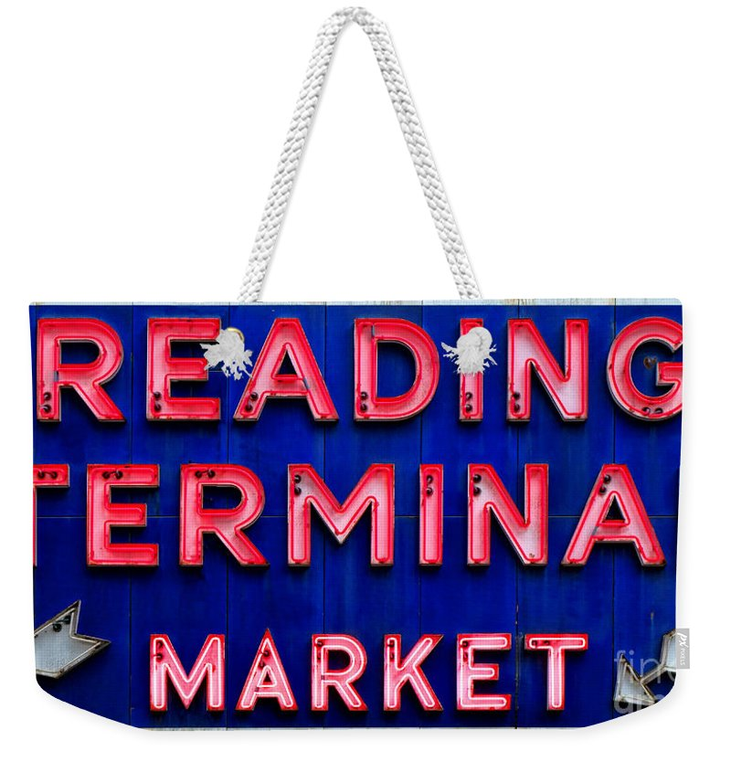 Reading Weekender Tote Bag featuring the photograph Reading Terminal Market by Olivier Le Queinec