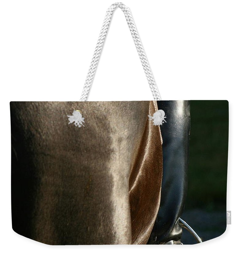 Spurs Weekender Tote Bag featuring the photograph Ready by Angela Rath