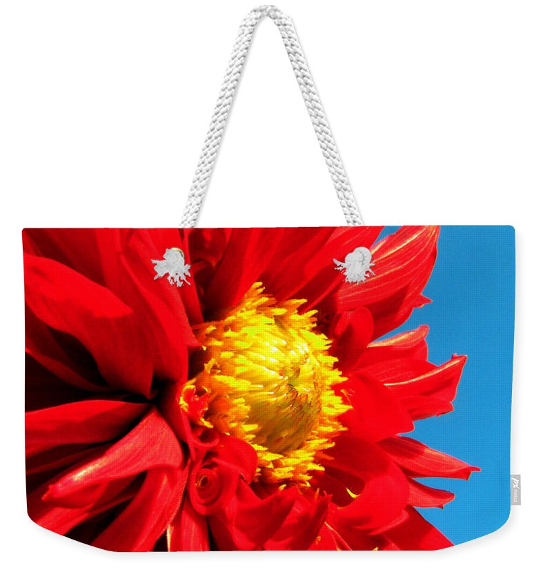 Dhalia Weekender Tote Bag featuring the photograph Ready For The Future by Amanda Barcon