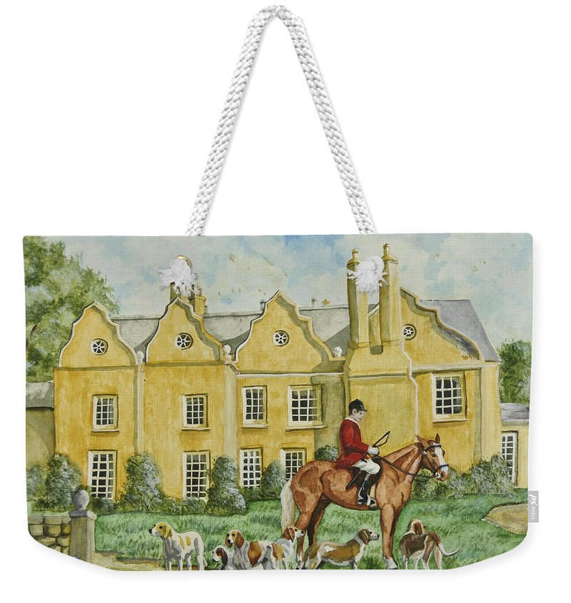 English Manor Home Weekender Tote Bag featuring the painting Ready For The Hunt by Charlotte Blanchard