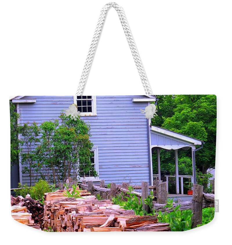 Pioneer Weekender Tote Bag featuring the photograph Ready For Winter by Ian MacDonald
