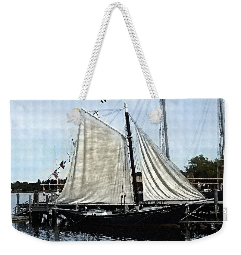 Antique Weekender Tote Bag featuring the painting Ready To Sail by RC DeWinter