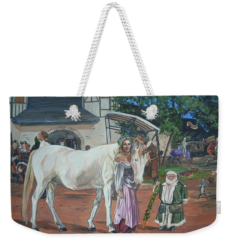 Renaissance Weekender Tote Bag featuring the painting Real Life In Her Dreams by Bryan Bustard