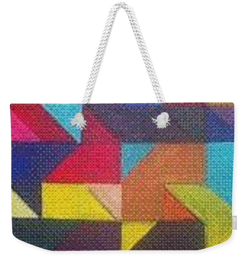 Digitalize Image Weekender Tote Bag featuring the digital art Real Sharp by Andrew Johnson