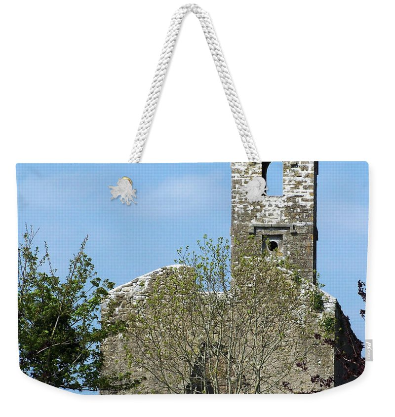 Fuerty Weekender Tote Bag featuring the photograph Rear View Fuerty Church And Cemetery Roscommon Ireland by Teresa Mucha