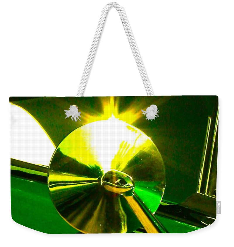 Photograph Of Car Weekender Tote Bag featuring the photograph Rear View by Gwyn Newcombe