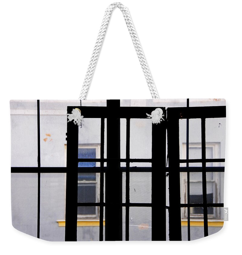 Skip Hunt Weekender Tote Bag featuring the photograph Rear Window 1 by Skip Hunt